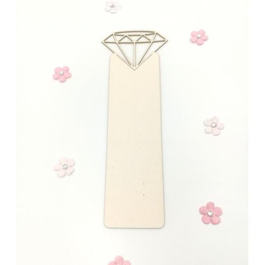 """Marque-page en carton bois Scrapmouset """"Diamant"""""""