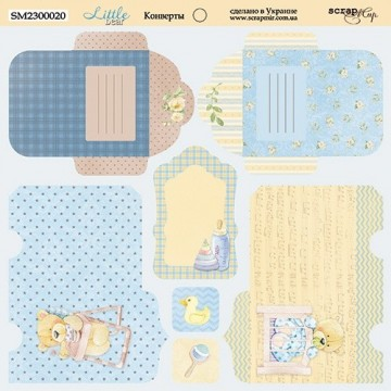 "Papier enveloppes 20 x 20 ""Little Bear"" de Scrapmir"