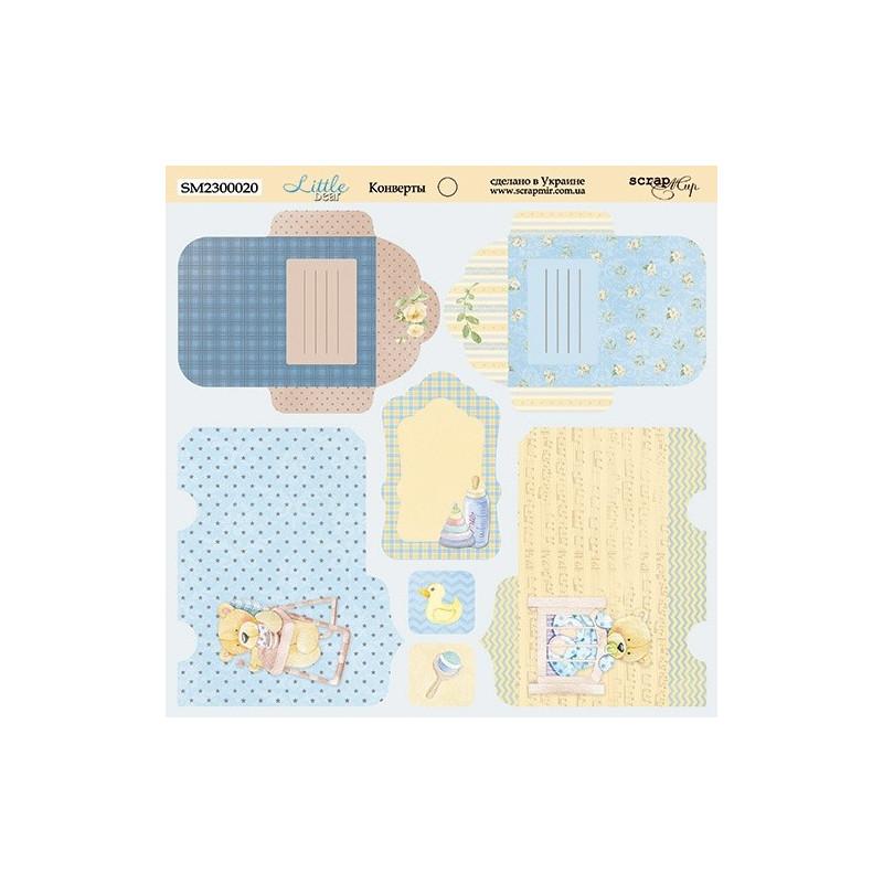 """Papier enveloppes 20 x 20 """"Little Bear"""" de Scrapmir"""