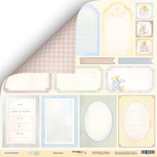 """Papier étiquettes 30,5 x 30,5 """"Little Bear"""" de Scrapmir"""