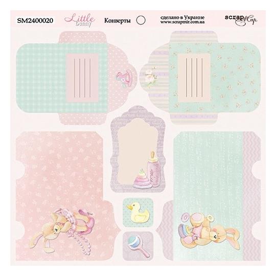 """Papier enveloppes 20 x 20 """"Little Bunny"""" de Scrapmir"""