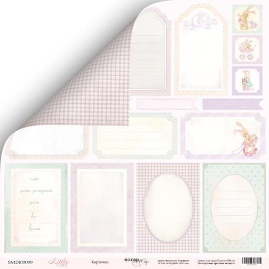 """Papier étiquettes 30,5 x 30,5  """"Little Bunny"""" de Scrapmir"""