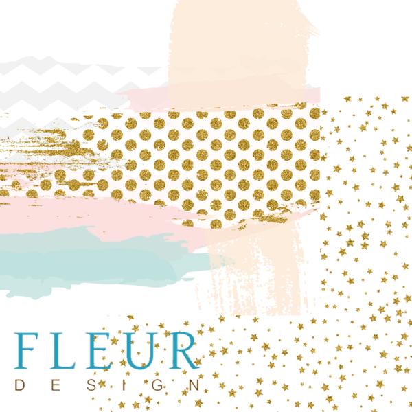 """Set 6 papiers 30 x 30  collection """"Lovely Girl"""" de Fleur Design"""