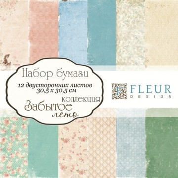 "Set 12 papiers 30 x 30 collection ""Forgotten Summer""  de Fleur Design"