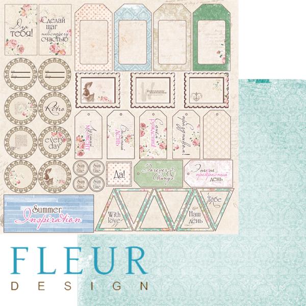 "Set 12 papiers 30 x 30 collection ""Forgotten Summer""  de Fleur Design"