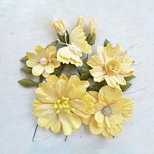 """Fleurs """"Blanche Lemon"""" de Little Birdie"""