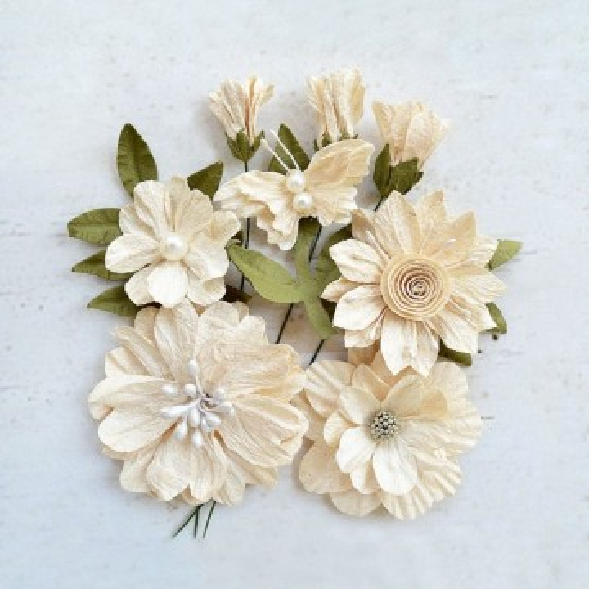 """Fleurs """"Blanche Ivory"""" de Little Birdie"""