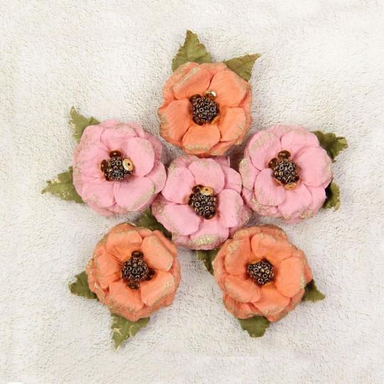 """Fleurs """"Victorian Teylie Corail"""" de Little Birdie"""