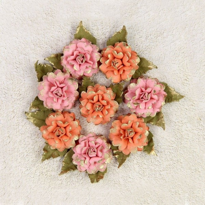 "Fleurs ""Victorian Diane Coral"" de Little Birdie"