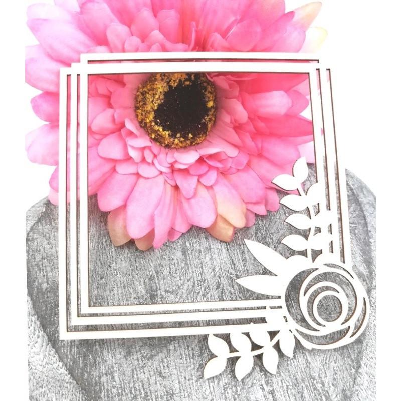 """Cadre carré """"Fleur d'été"""" de Scrapmouset"""