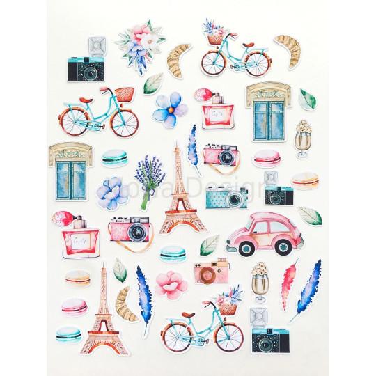 """Die-cuts cardstock """"Une fois à Paris"""" de Mona Design"""