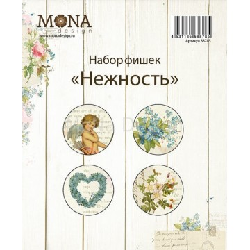 "Lot 4 badges collection ""Tendresse"" de Mona Design"