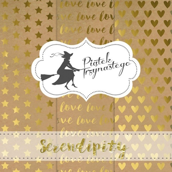 "Set 3 papiers Kraft et Or ""Serendipity"" de Piatek"