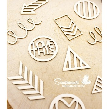 "Chipboards ""Project life"" de Scrapmouset"