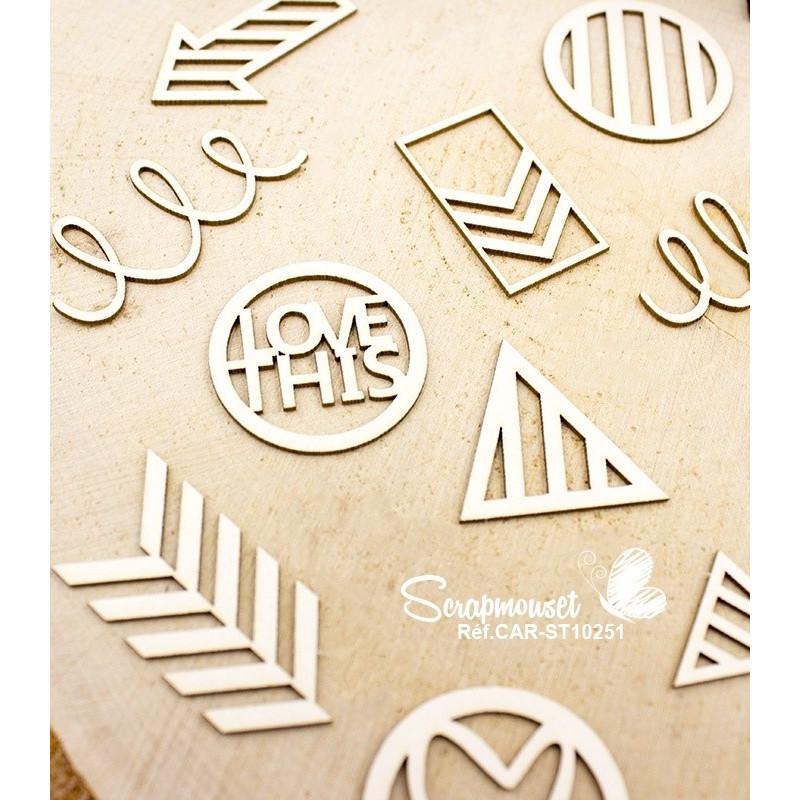 "Chipboards ""Project life"" de Scrapmouset"
