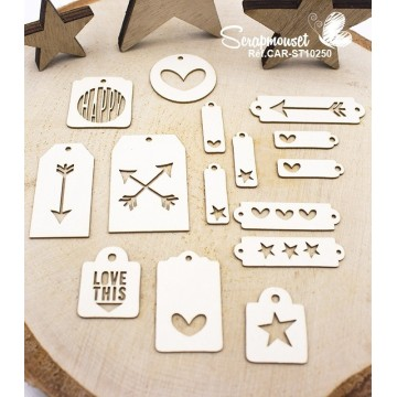 "Chipboards ""Mini tags"" de Scrapmouset"