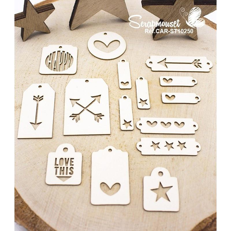 """Chipboards """"Mini tags"""" de Scrapmouset"""