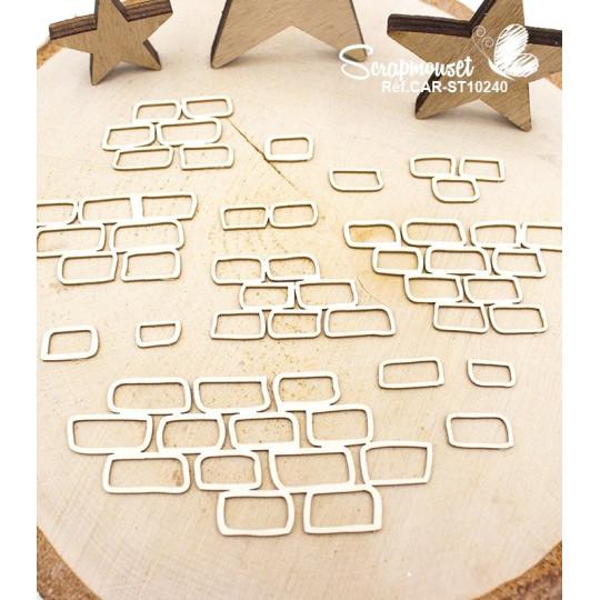 """Chipboards """"Fonds décoratifs briques murales"""" de Scrapmouset"""