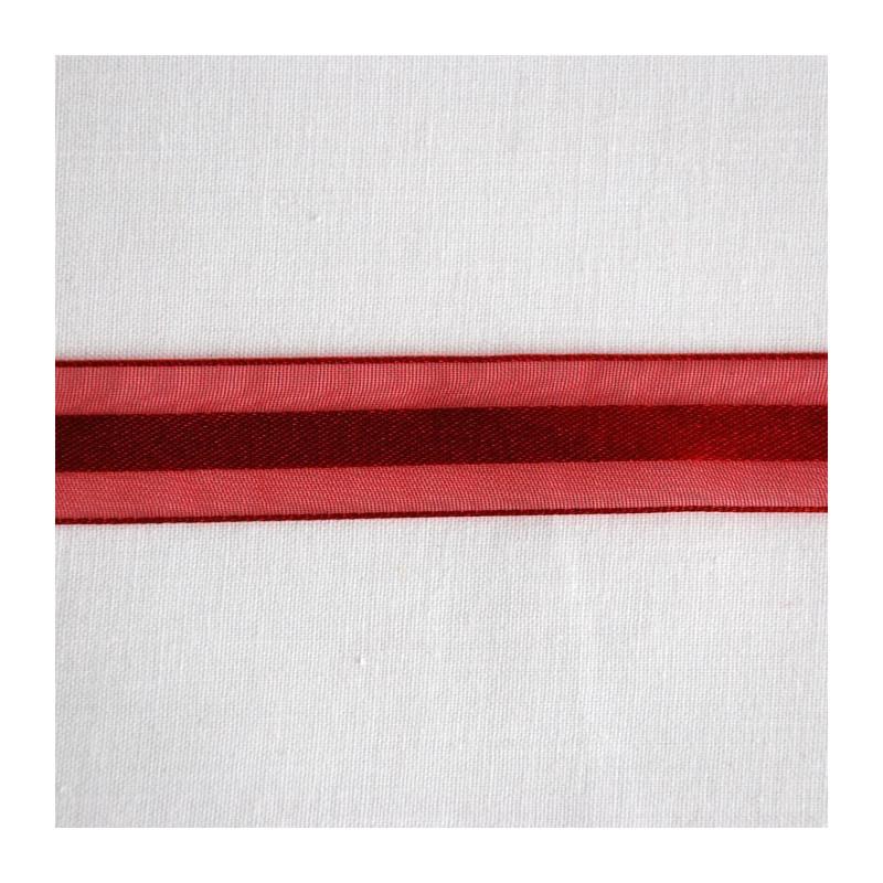 Ruban organza rouge 1.5 cm