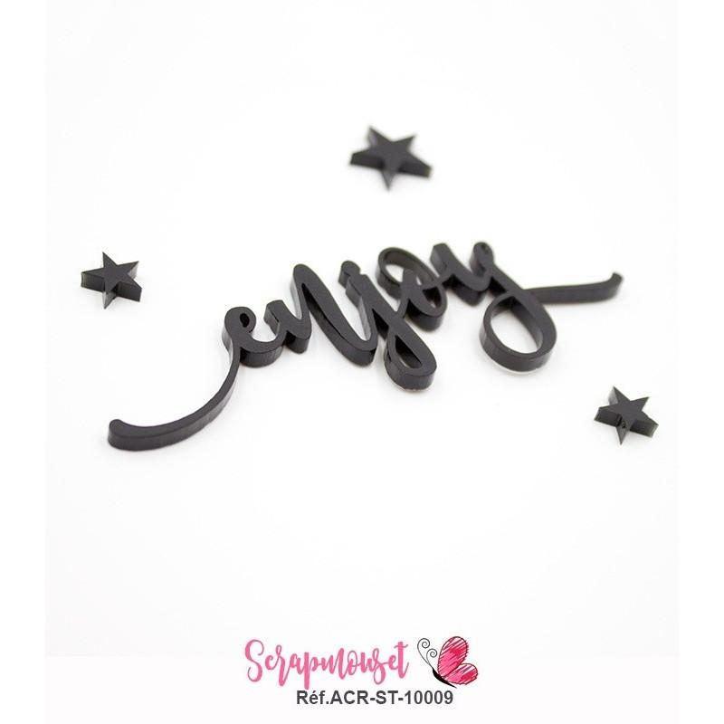 """Mot """"enjoy"""" en Acrylique - couleur noire"""