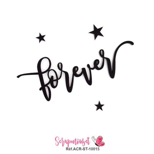 """Mot """"forever"""" en Acrylique - couleur noire"""