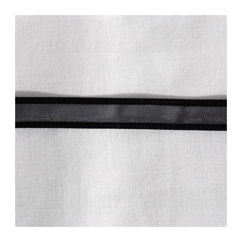 Ruban organza 1 cm noir