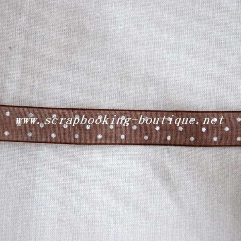 Ruban organza chocolat