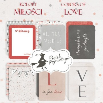 "Set de 6 cartes collection ""Colors of Love"""