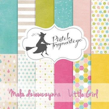 "Set 6 papiers collection ""Little Girl"" de Piatek"