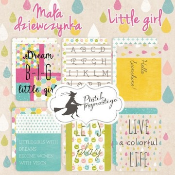 "Set de 6 cartes collection ""Little Girl"" de Piatek"