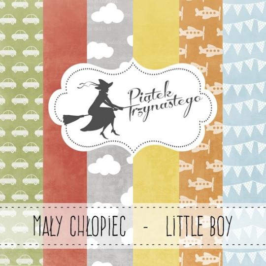 """Set 3 papiers collection """"Little Boy"""" de Piatek"""