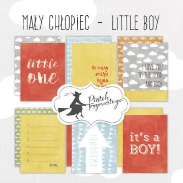 "Set de 6 cartes collection ""Little Boy"" de Piatek"