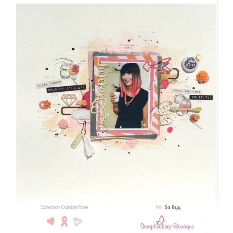 Mots en Carton bois - Be Happy - 9.3 x 2.9 cm