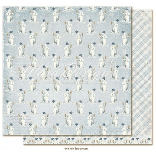 """Papier """"Mr Snowman"""" collection """"Joyous Winterdays"""" de Maja Design"""