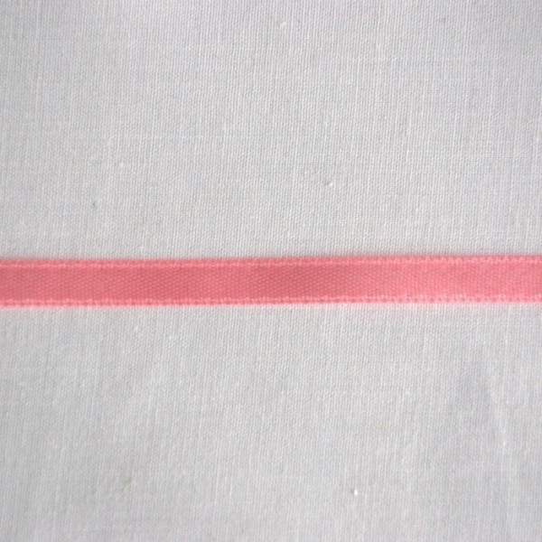 Ruban satin 6 mm rose