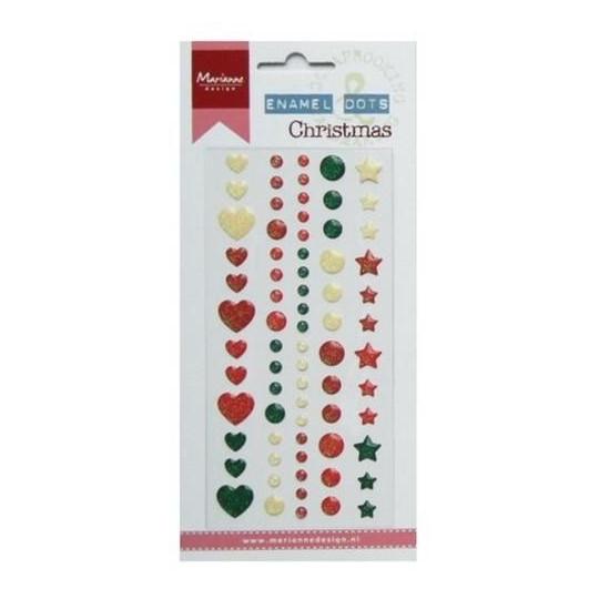 "Enamel dots autocollants ""Christmas"""