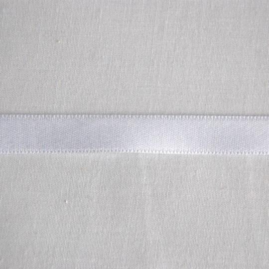 Ruban satin coton blanc 1 cm
