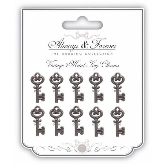 """Breloques argentées """"Petites clés"""" - Crafts Consortium"""