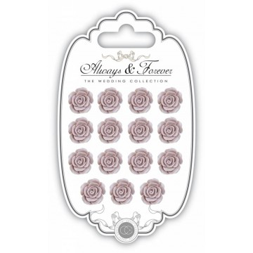 "Lot de 15 roses en résine ""Rose Blush"""