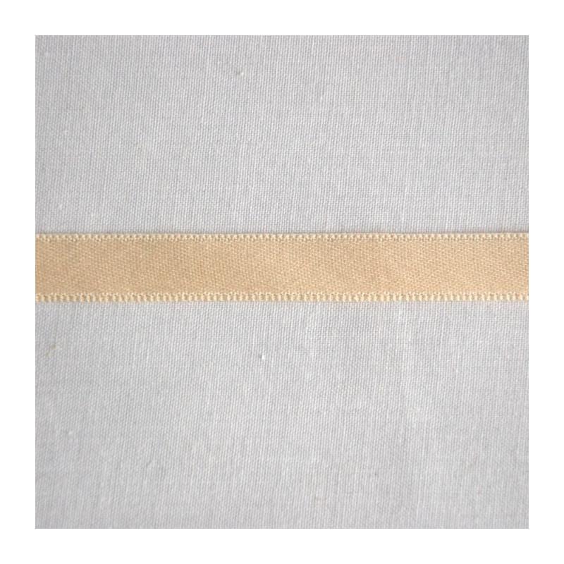 Ruban satin coton ivoire 1 cm