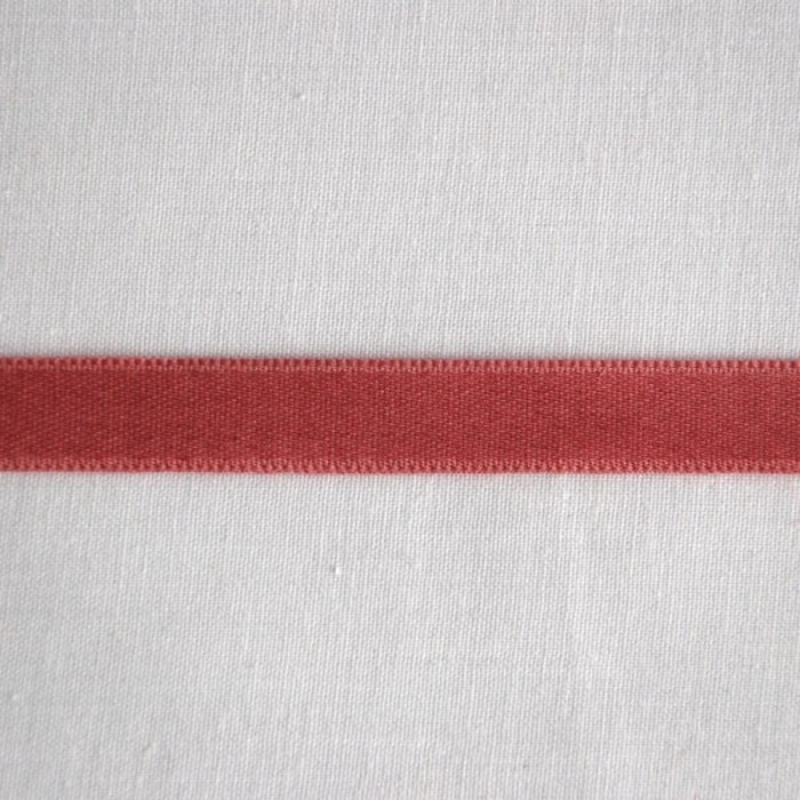 Ruban satin de coton vieux rose 1 cm