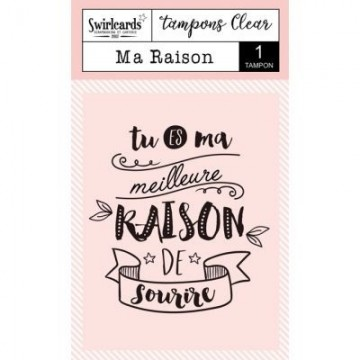 "Tampon clear ""Ma raison"" - Swirlcards"