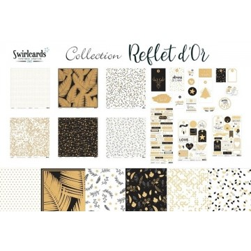 "Pack collection ""Reflet d'OR"" de Swirlcards"