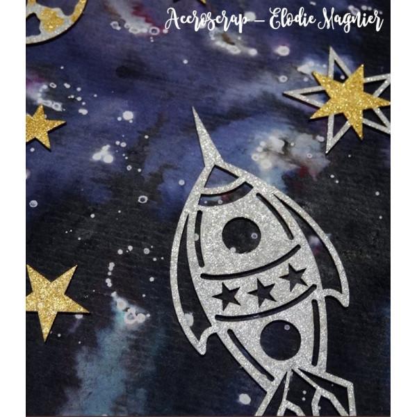 """Chipboards """"Dans l'espace"""" - Scrapmouset"""