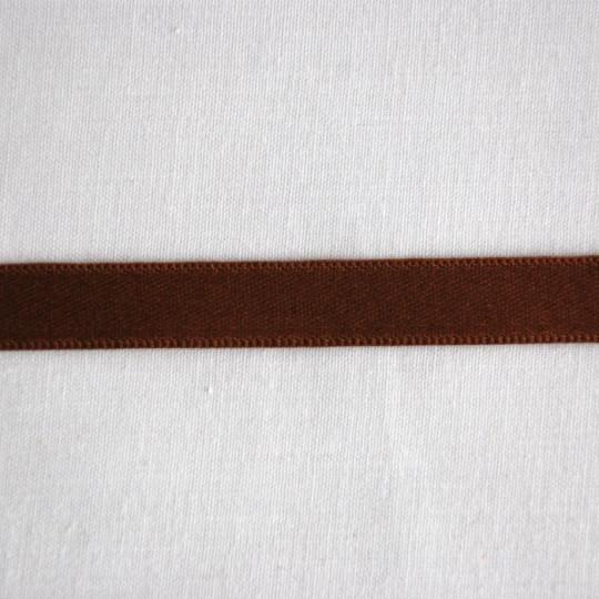 Ruban satin chocolat 1.6 cm
