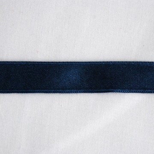 Ruban satin bleu navy 1.6 cm