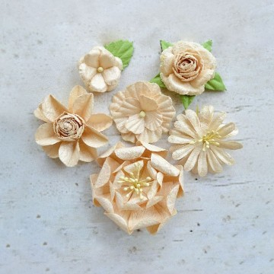 "Fleurs ""Florentine Ivory"" de Little Birdie"