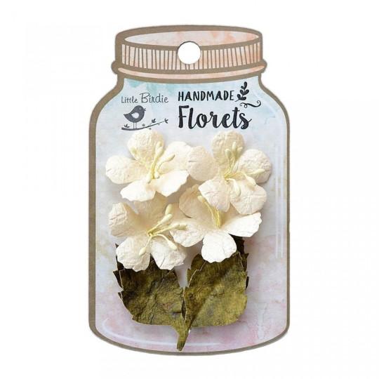 """Fleurs """"Cadenee White"""" de Little Birdie"""