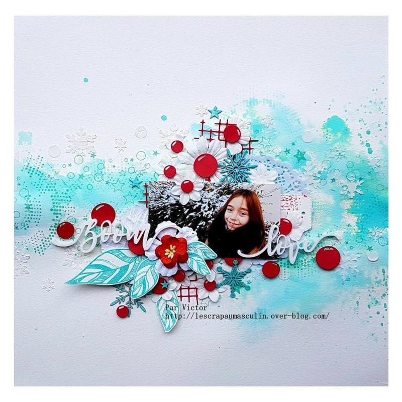 """Mot """"zoom"""" en Acrylique Blanc 10,1 x 2,9 cm - Scrapmouset"""