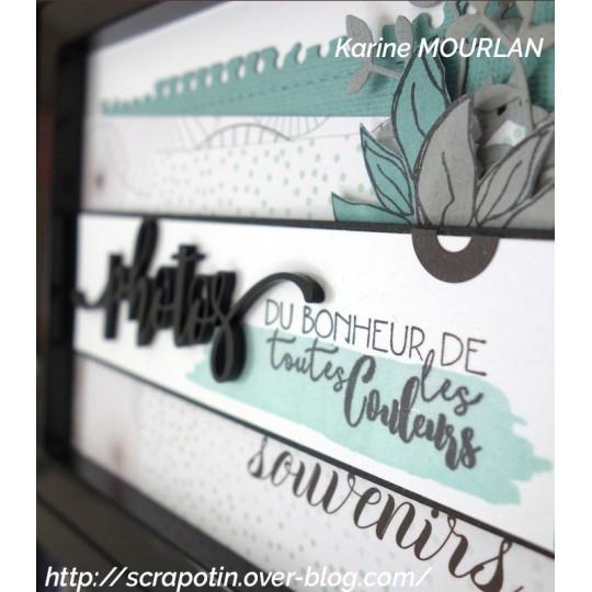"""Mot """"photos"""" en Acrylique Noir 10,4 x 3,6 cm - Scrapmouset"""